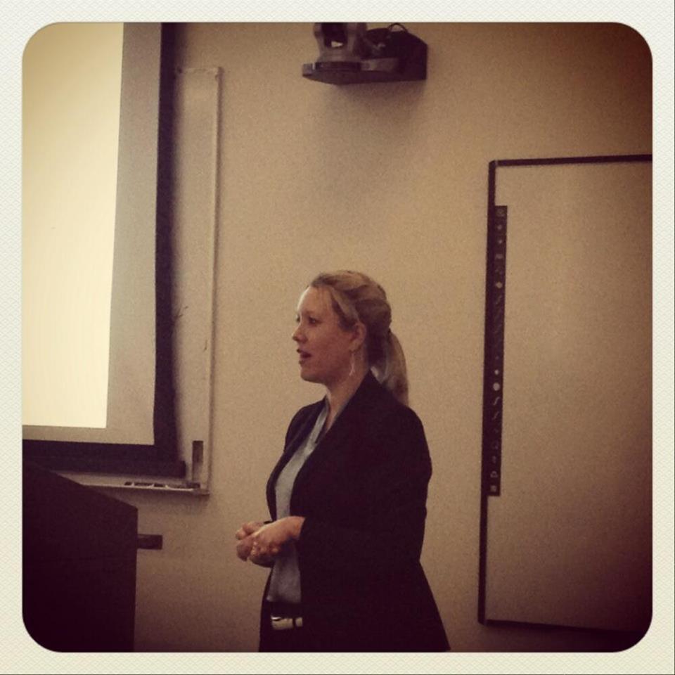 Sarah Dolton Zborowski speaking