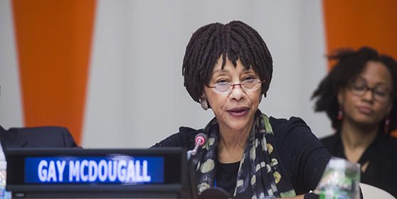 Leitner Center Distinguished Scholar-in-Residence Gay McDougall Addresses UN Panel Discussion on Africa Diaspora
